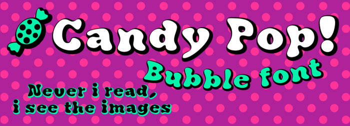 Candy Pop! Font poster