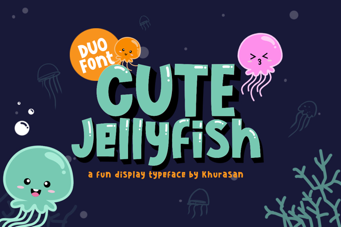 Cute Jellyfish Font poster