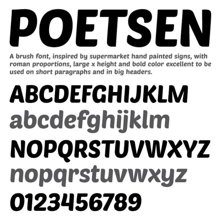 PoetsenOne Font poster