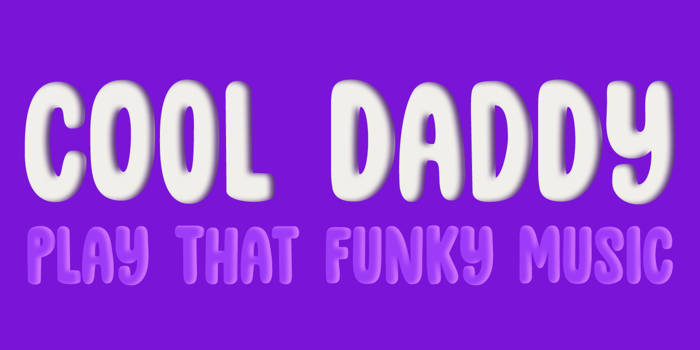 DK Cool Daddy Outline Font poster