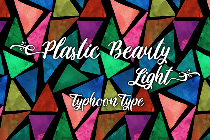 Plastic Beauty Light Font poster