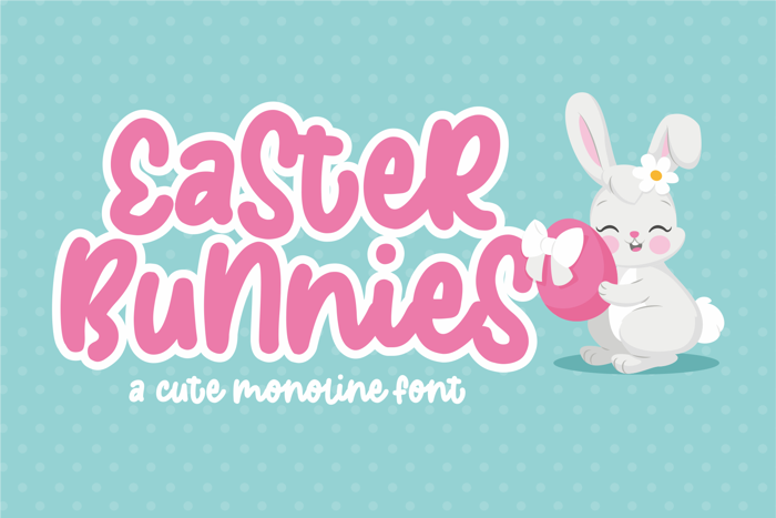 Easter Bunnies Font poster
