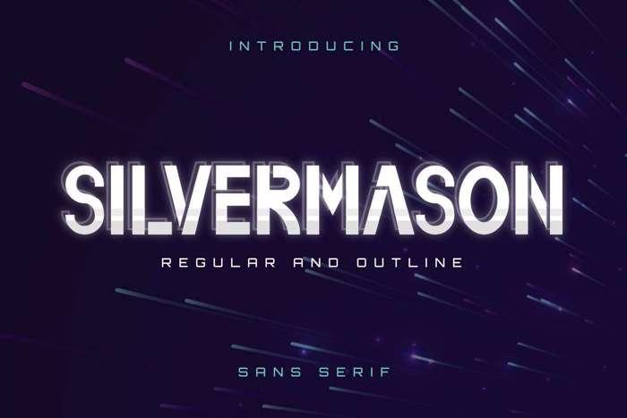 Silvermason Font poster