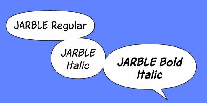 Jarble Font poster
