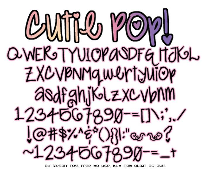 Cutie Pop Font poster