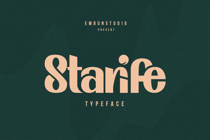 Starife Font poster