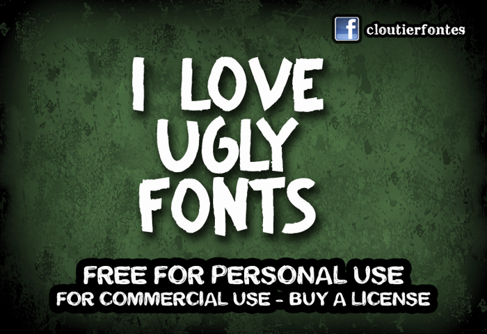 CF I Love Ugly Fonts poster