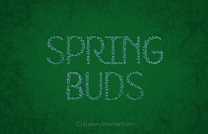 HKH Spring Buds  Font poster
