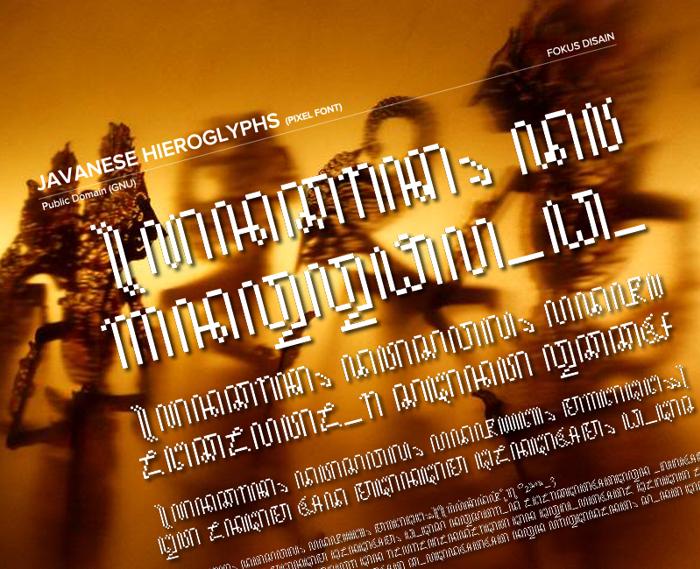 JavaneseHierogly Font poster