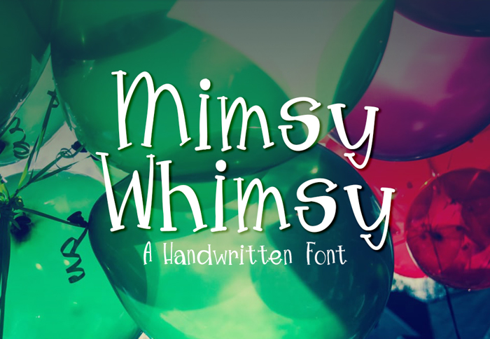 MimsyWhimsy Font poster
