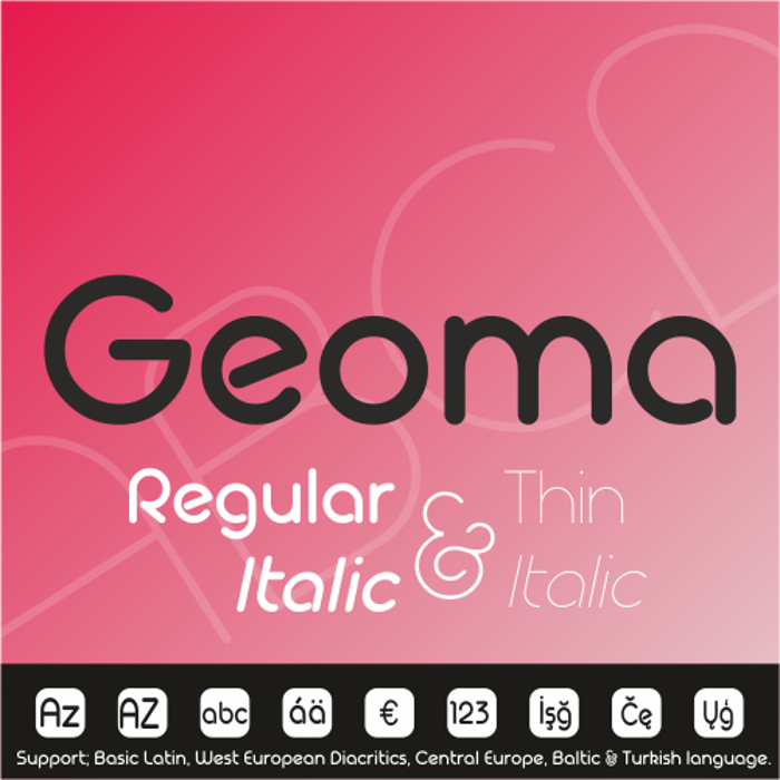 Geoma Thin Demo Font poster