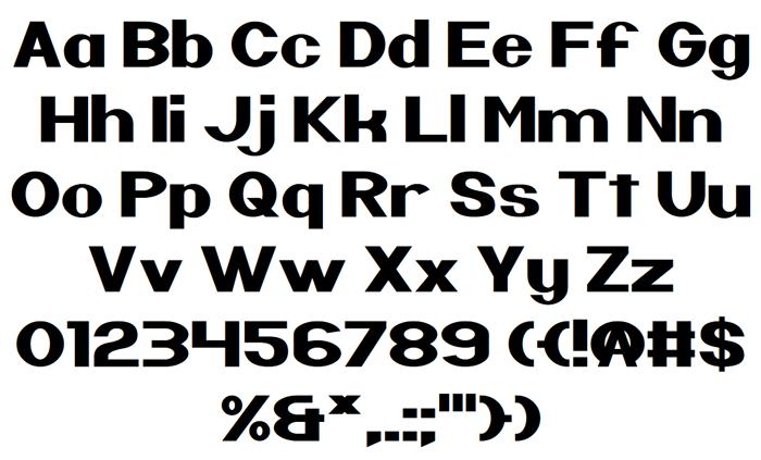 Nintender Font poster