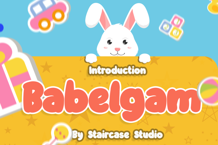 Babelgam Font poster