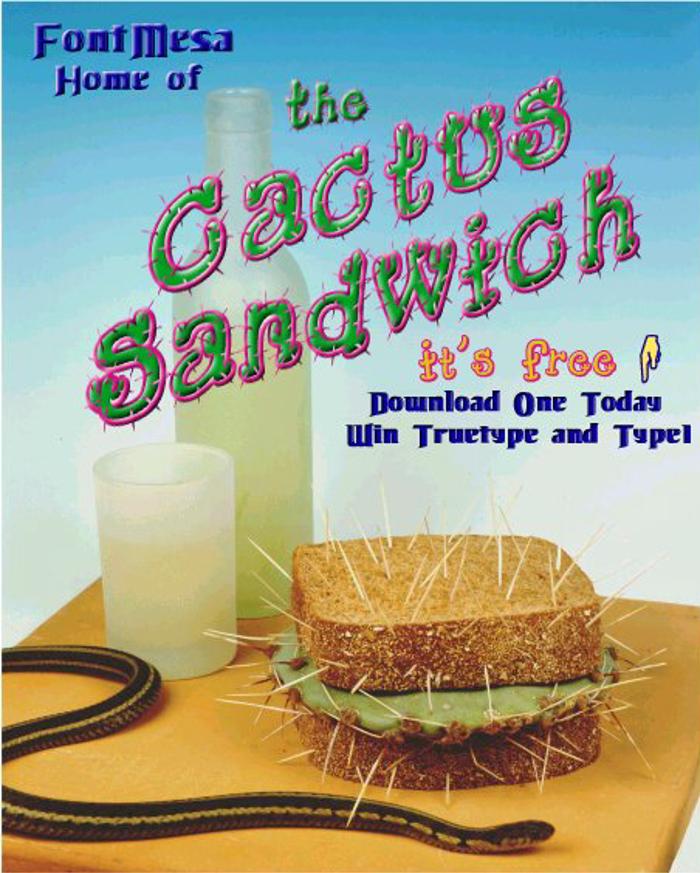 Cactus Sandwich Font poster