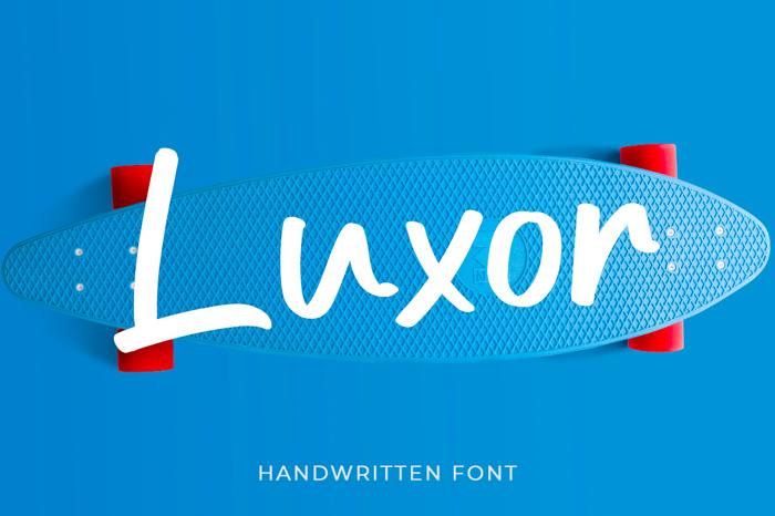 Luxor Font poster
