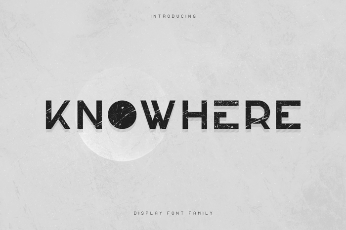 KNOWHERE - DISPLAY FONT poster