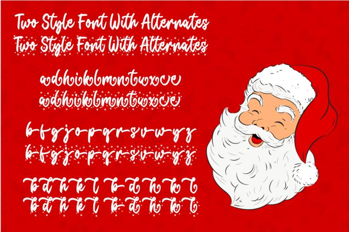 Christmas Present Font poster