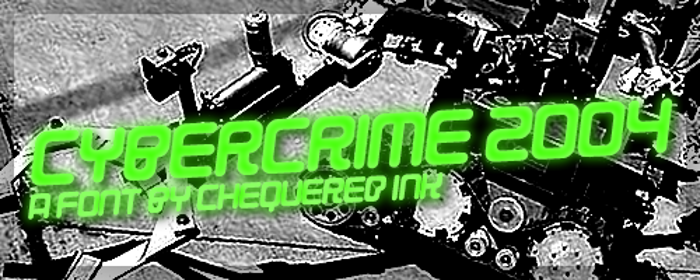 Cybercrime 2004 Font poster