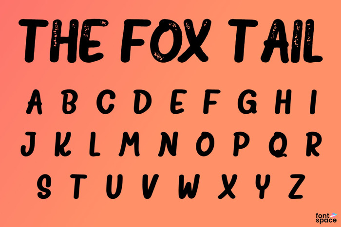 The Fox Tail Sans Font poster