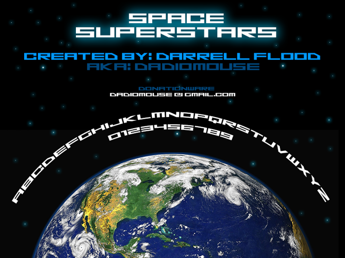 Space Superstars Font poster