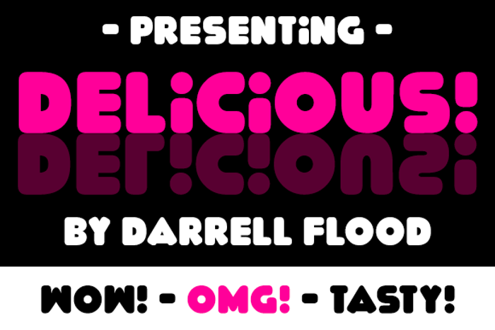 Delicious Font poster