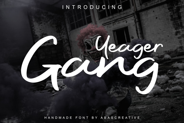 Yeager Gang Font poster