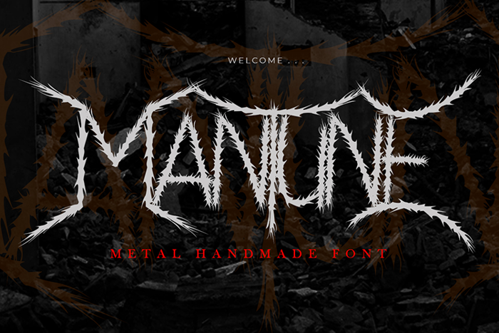 Mantune Font poster