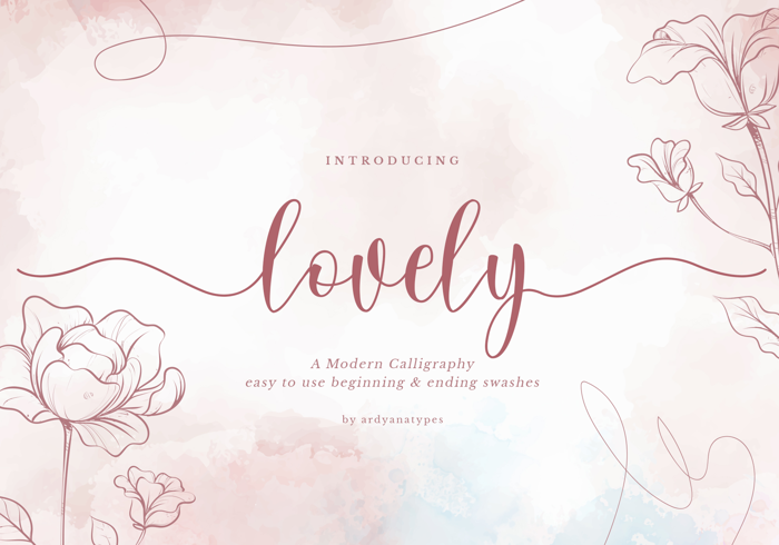 Lovely Script Font poster