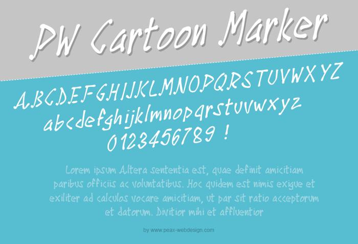 PWCartoonMarker Font poster