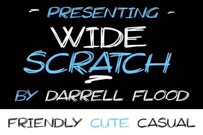 Widescratch Font poster