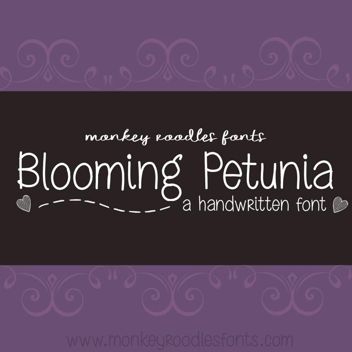 MRF Blooming Petunia Font poster
