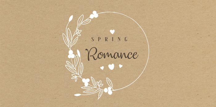 Spring Romance Font poster
