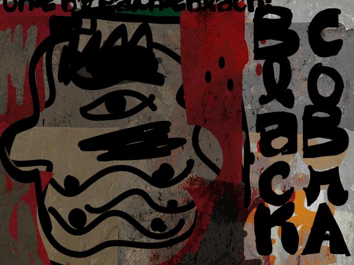 Black CoBrA Font poster