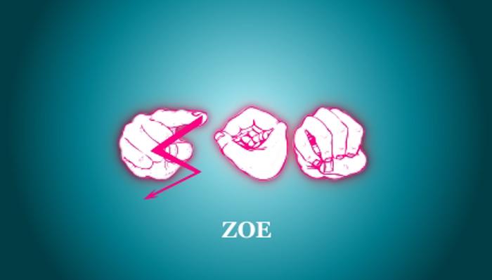 zoefingerabc Regular Font poster
