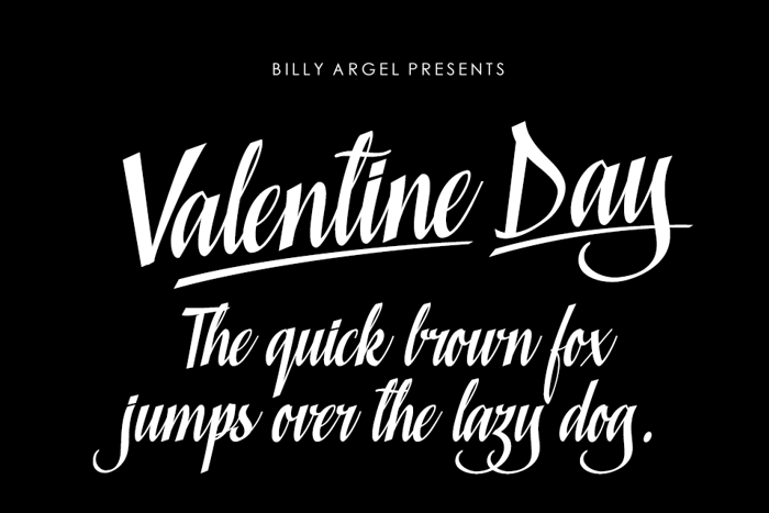 Valentine Day Font poster
