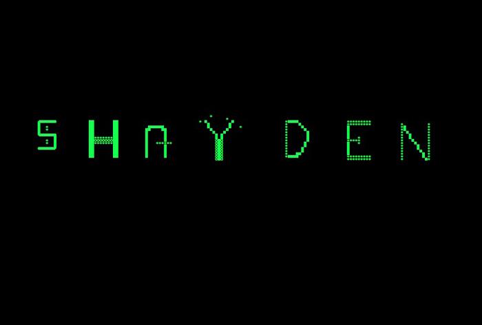 Shayden Font poster