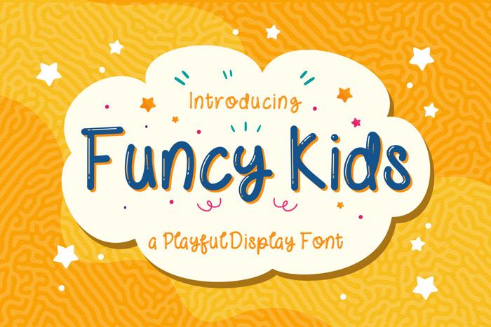 FUNCY KIDS ! Font poster