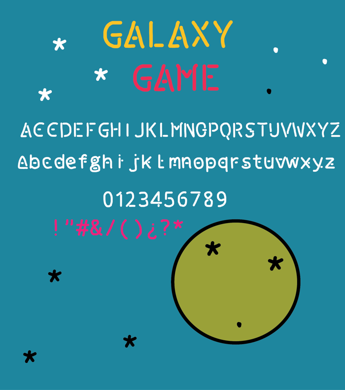 galaxy game Font poster
