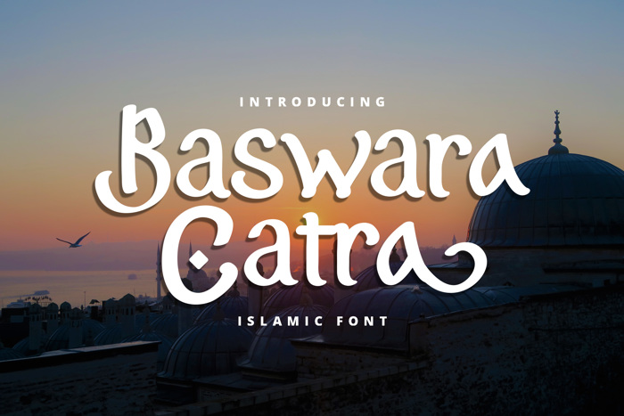 Baswara Catra Font poster