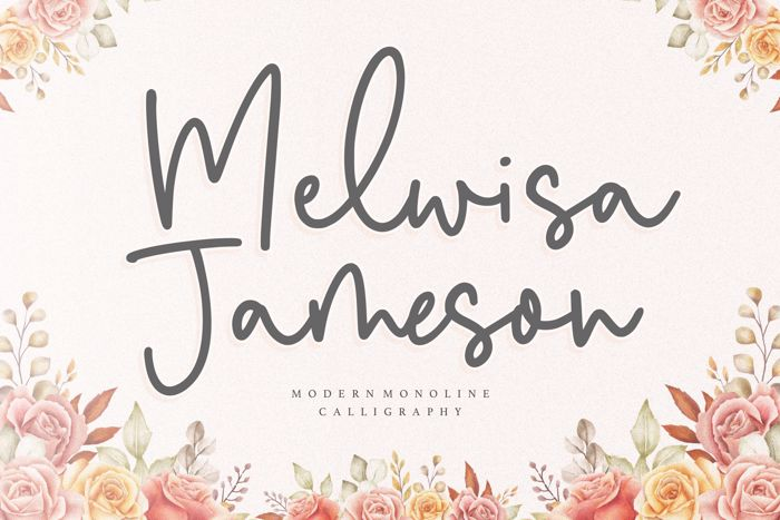 Melwisa Jameson Font poster