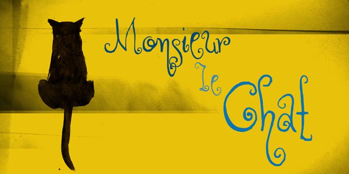DK Monsieur Le Chat Font poster