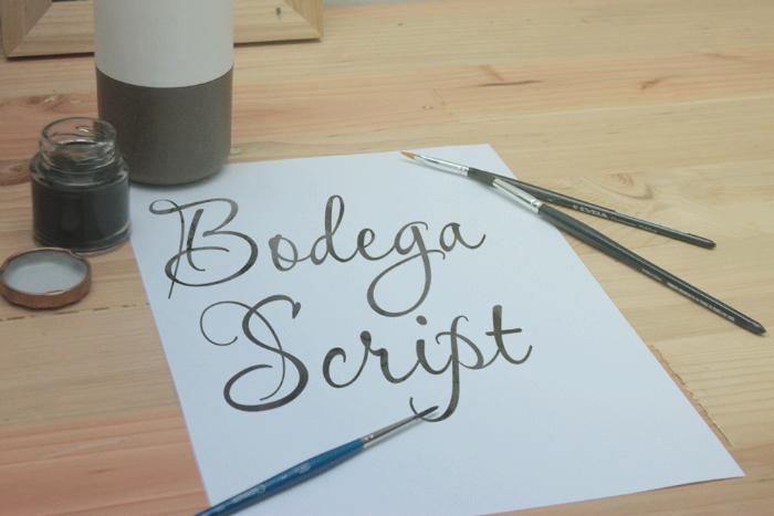 Bodega Script Font poster