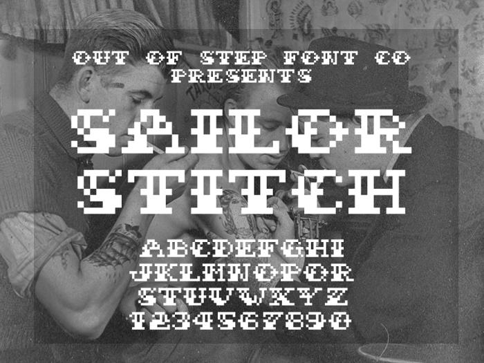 Sailor Stitch Font poster