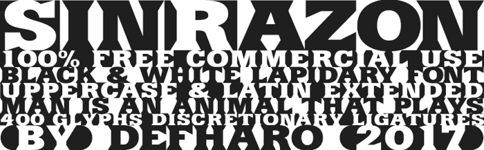 SinRazon Font poster