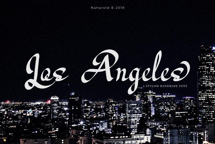 Los Angeles - Modern Script Font poster