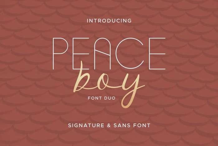 Peace Boy Font poster