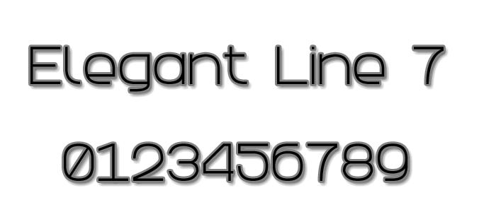 Elegant Line 7 Font poster