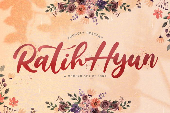 Ratih Hyun Font poster