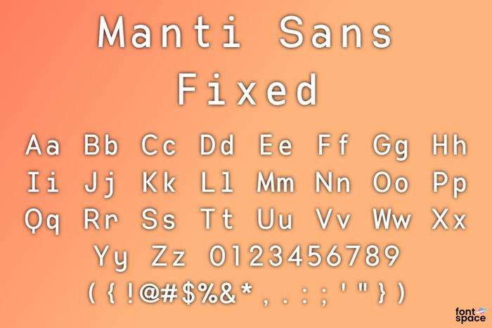 Manti Sans Fixed poster