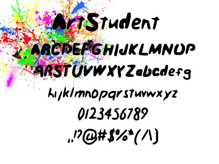 Art_Student Font poster
